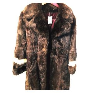 Jackets & Blazers - New With Tags Woman's 100% Rabbit Vintage Fur Coat